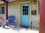 Colorful Front Door and Porch