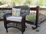 Deck Chair and Whimsical Art Pieces