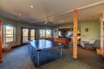 Ping Pong and Foosball Tables in Game Room