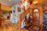 Stairs to Upper Level with Two Bedrooms