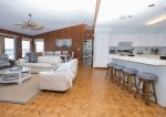 With the open floor plan you can chat with friends in the living room while cooking in the kitchen