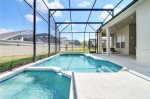 Screened in pool area