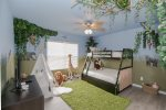 Jungle themed kids room upstairs