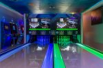 Lighted bowling alleys