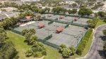 Resort tennis courts