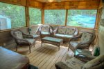 Comfy Seating on Screened Porch