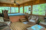 6 Person Hot Tub on Screened Porch