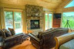Master King Suite Fireplace and Seating