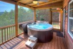 Outdoor dining area seats six
