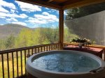 Hot Tub with beautiful mountain views