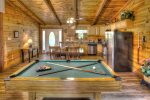 Pool Table and Living Area