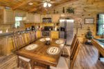 Pool table and Dining area