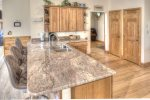 Gorgeous new countertops for prep and additional dining