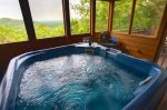 Incredible views from the large hot tub