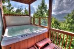 Hot Tub on Main Level Deck Seats 4-6