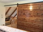 King Master in Loft with Sliding Barn Door for Privacy