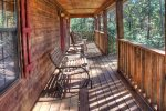 Screened in Porch with Hot Tub and Wood Burning Fireplace