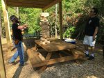 Foosball and Pool table in the game shed in between Cabin 2 and 3