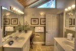 Master bath with separate his/her vanities