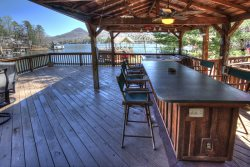 The Cove at Lake Burton - Vintage Lakefront Home with Covered Boathouse Deck and Sun Dock