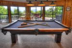 Master bedroom looks out to loft and great mountain views