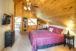 Lower level game room with same incredible mountain views