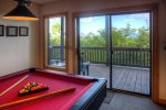 Relax in the hot tub while enjoying a peaceful mountain day