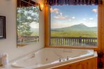 Breathtaking mountain views off the back deck