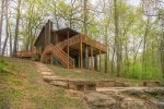 Expanded Deck and Gorgeous fire pit overlooks the creek