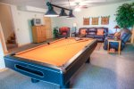 Perfect place to put on your favorite team and shoot some pool
