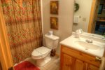 Full bath on lower level has tub/shower combo