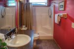 Open deck off master bedroom with beautiful views of Mt Yonah