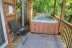 Also the lower deck features an incredible hot tub
