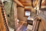 New fire pit overlooking the waterfalls and creek.  Just in time for autumn