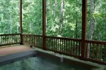 Hot Tub on Lower Level Covered Deck