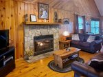 Horse shoe kitchen area with beautiful views