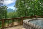 Gorgeous Close Up Views of Mt Yonah from the Hot Tub