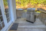 Gas Grill on Main Level Deck