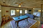 Mountain Sunset - Lower Level Pool Table