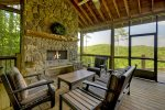 Altitude Adjustment - Screened In Porch w/ Log Fireplace