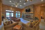When in Rome - Deck with Seating, Outdoor Fireplace and Lake View