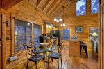 Blue Lake Cabin - Dining Area and Fully Equipped Kitchen