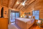 Blue Lake Cabin - Upper Level Master King Bedroom