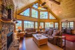 Big Creek Cabin - Living Room w/ Gas Fireplace
