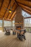 Big Creek Cabin - Outdoor Fireplace
