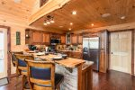Big Creek Cabin - Breakfast Bar