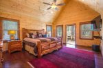 Big Creek Cabin - Upper Level Master King Bedroom