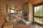 View From The Top - Outdoor Fireplace and Seating