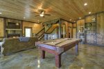 Vista Rustica - Lower Level Pool Table and Den Area