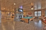 Long Mountain Lodge - Lower Level Game Room